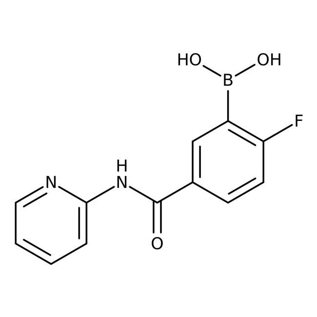 Alfa Aesar™2-Fluoro-5-(2-pyridylcarbamoyl)benzeneboronic acid, 97%