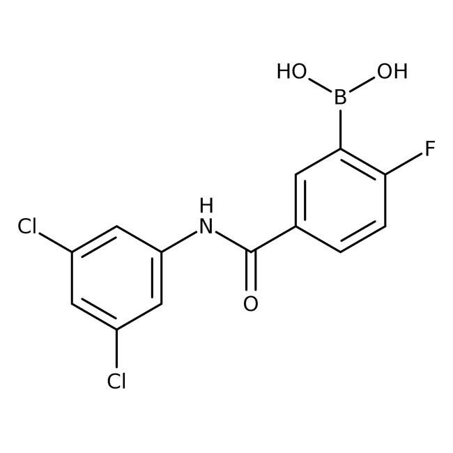 Alfa Aesar™5-(3,5-Dichlorophenylcarbamoyl)-2-fluorobenzeneboronic acid, 97%