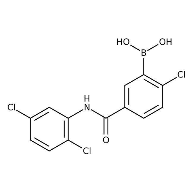 Alfa Aesar™2-Chloro-5-(2,5-dichlorophenylcarbamoyl)benzeneboronic acid, 97% 250mg Alfa Aesar™2-Chloro-5-(2,5-dichlorophenylcarbamoyl)benzeneboronic acid, 97%