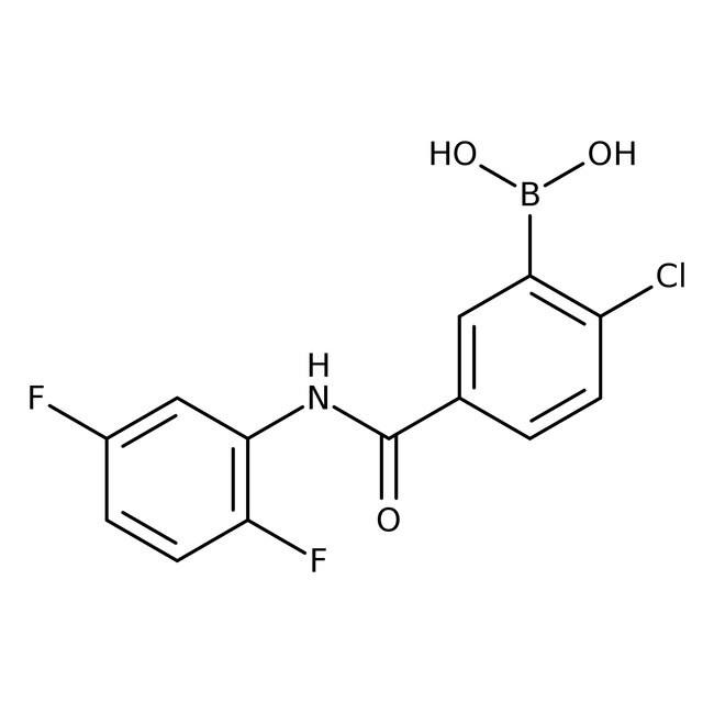 Alfa Aesar™2-Chloro-5-(2,5-difluorophenylcarbamoyl)benzeneboronic acid, 97%