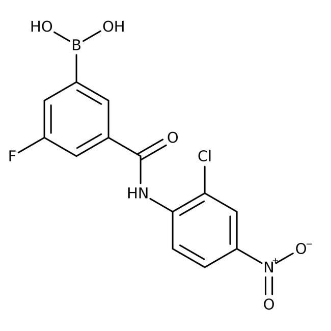 Alfa Aesar™5-(2-Chloro-4-nitrophenylcarbamoyl)-3-fluorobenzeneboronic acid, 97%