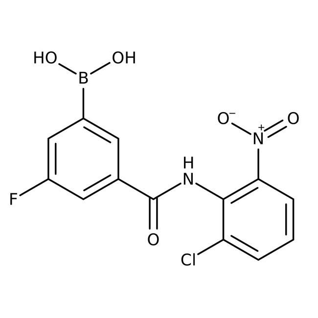 Alfa Aesar™5-(2-Chloro-6-nitrophenylcarbamoyl)-3-fluorobenzeneboronic acid, 97%