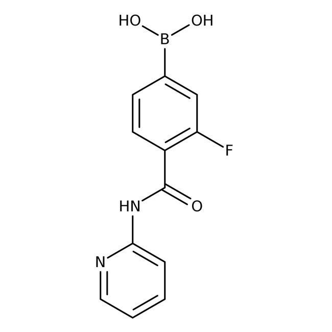 Alfa Aesar™3-Fluoro-4-(2-pyridylcarbamoyl)benzeneboronic acid, 97%