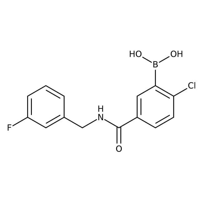 Alfa Aesar™2-Chloro-5-(3-fluorobenzylcarbamoyl)benzeneboronic acid, 97%