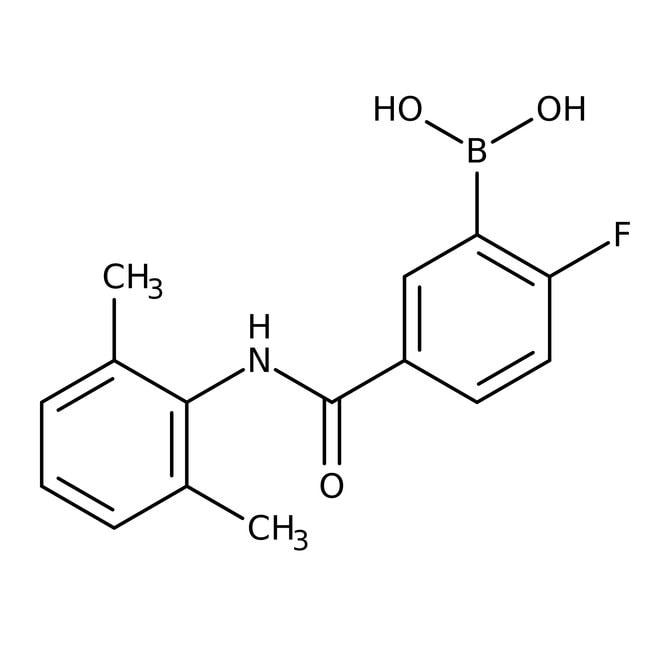 Alfa Aesar™5-(2,6-Dimethylphenylcarbamoyl)-2-fluorobenzeneboronic acid, 97%