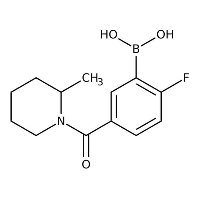 Alfa Aesar™2-Fluoro-5-(2-methyl-1-piperidinylcarbonyl)benzeneboronic acid, 97%