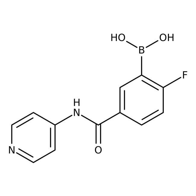 Alfa Aesar™2-Fluoro-5-(4-pyridylcarbamoyl)benzeneboronic acid, 97%