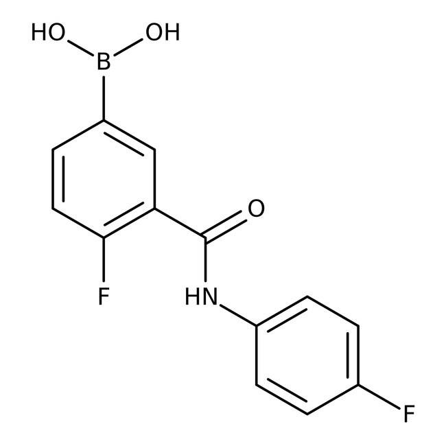 Alfa Aesar™4-Fluoro-3-(4-fluorophenylcarbamoyl)benzeneboronic acid, 97%