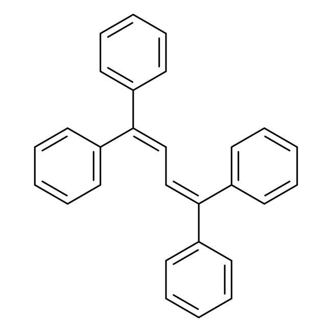 1,1,4,4-Tetraphenyl-1,3-butadiene, 99%, ACROS Organics™ 1g; Glass bottle 1,1,4,4-Tetraphenyl-1,3-butadiene, 99%, ACROS Organics™