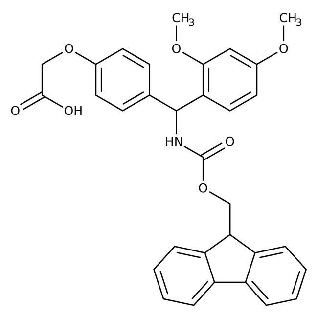 4-[(2,4-Dimethoxyphenyl)(Fmoc-amino)methyl]phenoxyacetic acid, 98+%, Alfa Aesar™