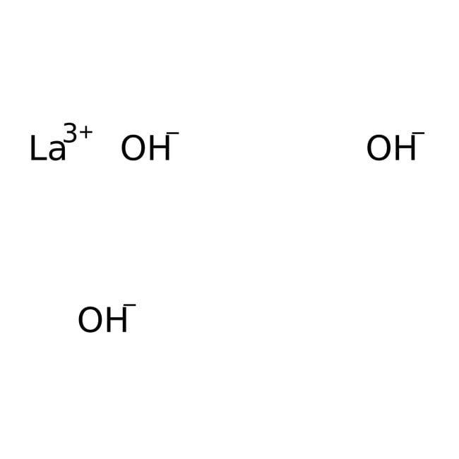 Alfa Aesar™Lanthan(III)-hydroxid, 99.95% (REO) 250g Alfa Aesar™Lanthan(III)-hydroxid, 99.95% (REO)