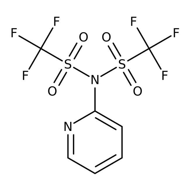 N-(2-Pyridyl)bis(trifluoromethanesulfonimide), 97%, Acros Organics