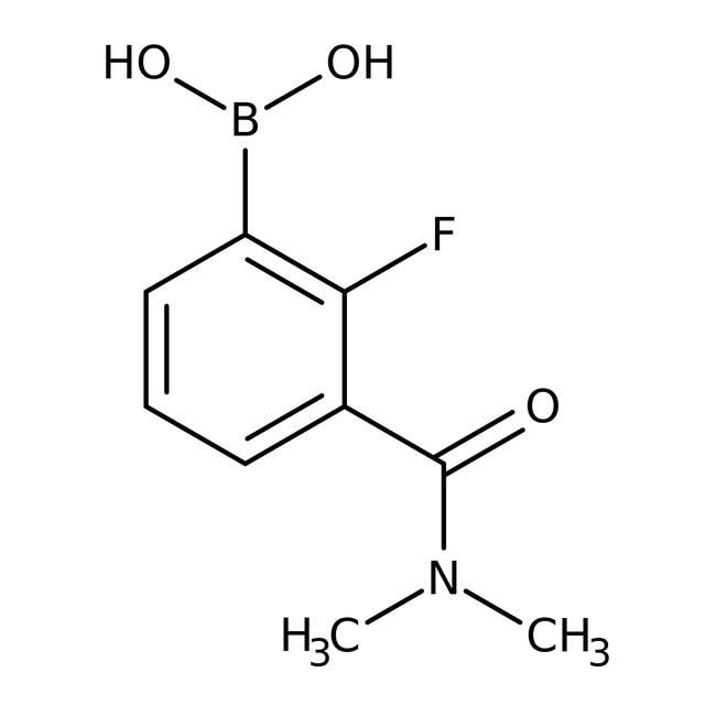 Alfa Aesar™3-(Dimethylcarbamoyl)-2-fluorobenzeneboronic acid, 95% 1g Alfa Aesar™3-(Dimethylcarbamoyl)-2-fluorobenzeneboronic acid, 95%