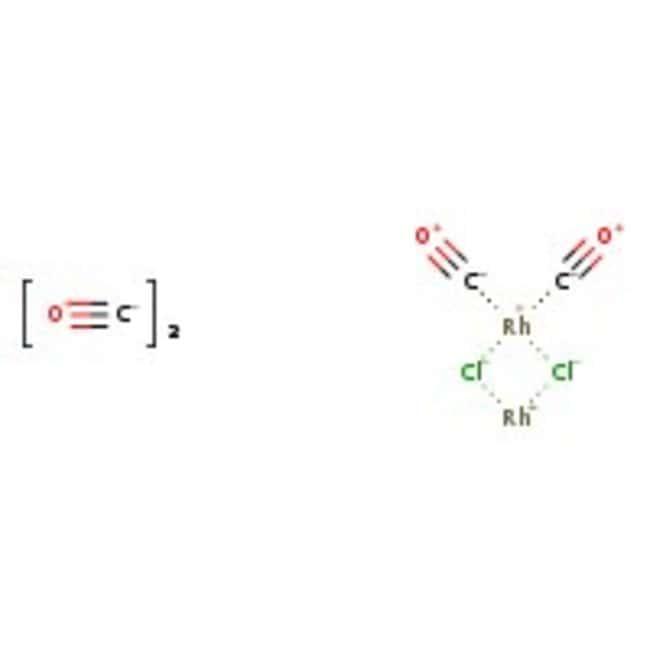 Tetracarbonyldi-µ-chlorodirhodium(I), 97%, ACROS Organics™ 1g; Glass bottle Tetracarbonyldi-µ-chlorodirhodium(I), 97%, ACROS Organics™