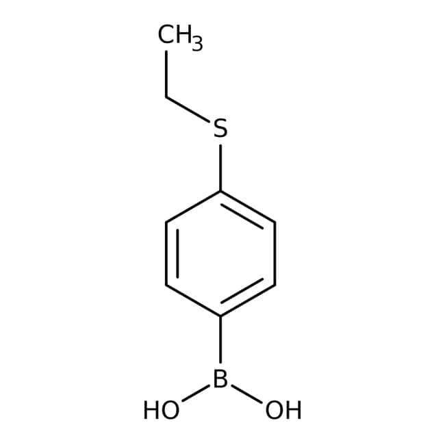 Alfa Aesar™4-(Ethylthio)benzeneboronic acid, 98% 5g Alfa Aesar™4-(Ethylthio)benzeneboronic acid, 98%