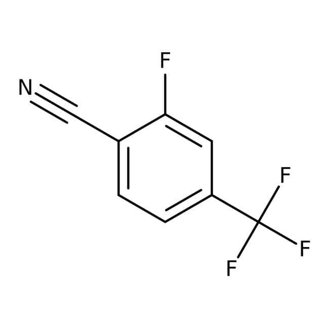 Alfa Aesar™2-Fluoro-4-(trifluorometil)benzonitrilo, 98% 1g Alfa Aesar™2-Fluoro-4-(trifluorometil)benzonitrilo, 98%
