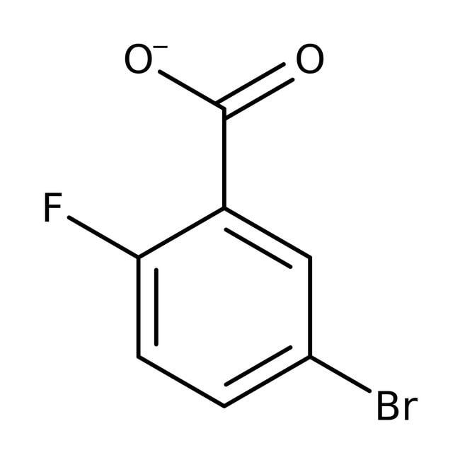 5-Bromo-2-fluorobenzoic acid, 97%, ACROS Organics™ 1g, Glass bottle 5-Bromo-2-fluorobenzoic acid, 97%, ACROS Organics™