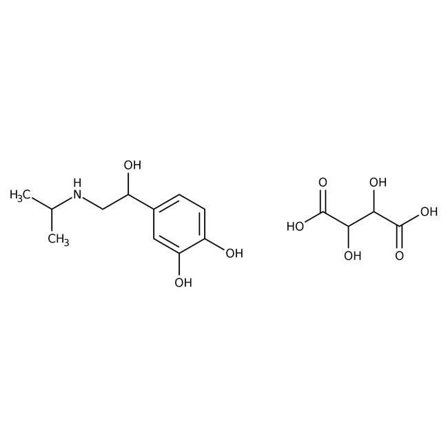 (S)-(+)-Isoproterenol L(+)-bitartrate, ACROS Organics