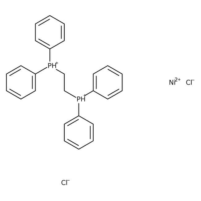 Dichloro[bis(1,2-diphenylphosphino)ethane]nickel(II), 98%, Alfa Aesar™ 2g Dichloro[bis(1,2-diphenylphosphino)ethane]nickel(II), 98%, Alfa Aesar™