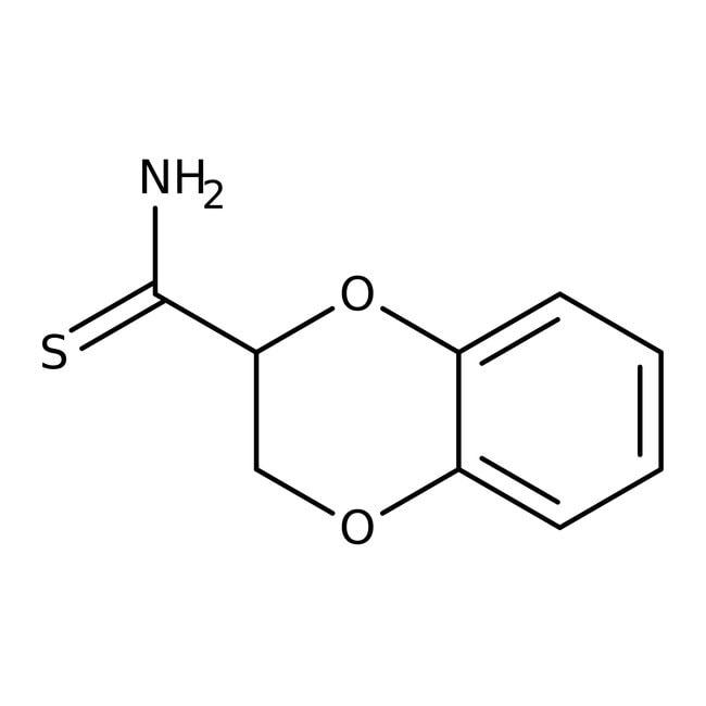 Alfa Aesar™1,4-Benzodioxane-2-thiocarboxamide, 97% 250mg Alfa Aesar™1,4-Benzodioxane-2-thiocarboxamide, 97%
