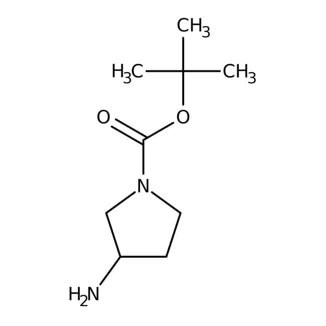 (R)-(+)-N-BOC-3-aminopyrrolidine, 97%, ACROS Organics™ 1g; Glass bottle (R)-(+)-N-BOC-3-aminopyrrolidine, 97%, ACROS Organics™