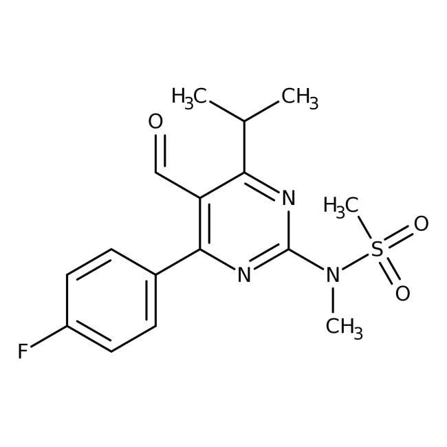 N-[4-(4-Fluorophenyl)-5-formyl-6-isopropyl-2-pyrimidinyl]-N-methylmethanesulfonamide, 99%, Alfa Aesar™ 100g N-[4-(4-Fluorophenyl)-5-formyl-6-isopropyl-2-pyrimidinyl]-N-methylmethanesulfonamide, 99%, Alfa Aesar™