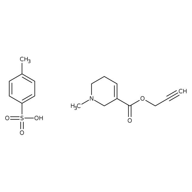 Arecaidine propargyl ester tosylate, Tocris Bioscience™ 10mg Arecaidine propargyl ester tosylate, Tocris Bioscience™