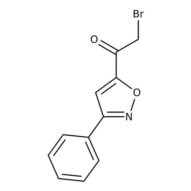 2-Bromo-1-(3-phenylisoxazol-5-yl)ethan-1-one 95%, Maybridge™ Amber Glass Bottle; 10g 2-Bromo-1-(3-phenylisoxazol-5-yl)ethan-1-one 95%, Maybridge™