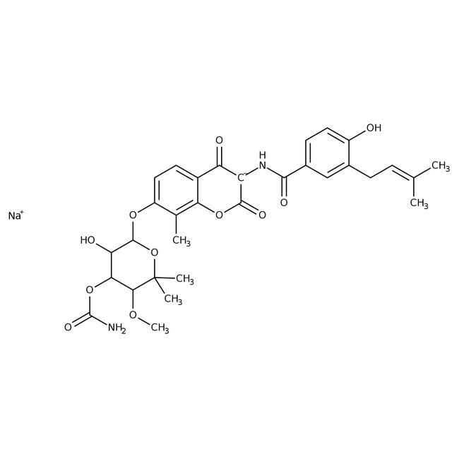 Novobiocin Sodium Salt, MP Biomedicals™ 25g Novobiocin Sodium Salt, MP Biomedicals™
