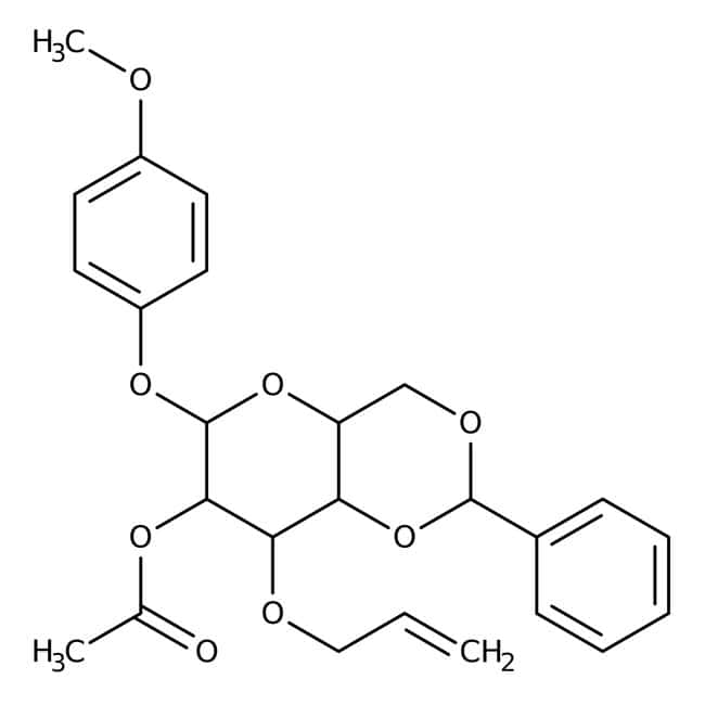 4-Methoxyphenyl 2-O-Acetyl-3-O-allyl-4,6-O-benzylidene-beta-D-glucopyranoside 98.0+%, TCI America™