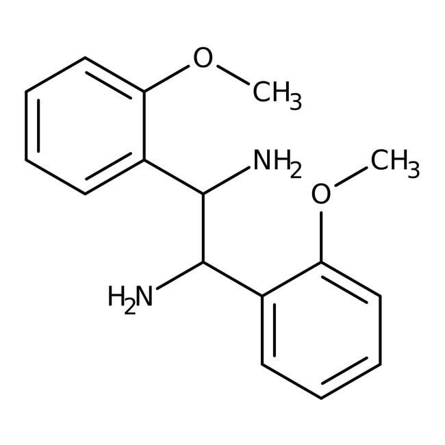 Alfa Aesar™(S,S)-1,2-Bis(2-methoxyphenyl)-1,2-ethanediamine, 97+% 1g Alfa Aesar™(S,S)-1,2-Bis(2-methoxyphenyl)-1,2-ethanediamine, 97+%