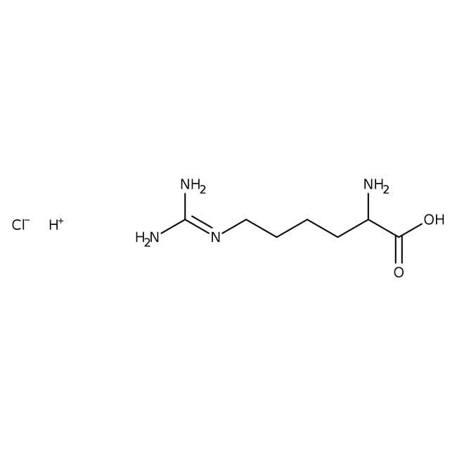 L(+)-Homoarginine hydrochloride, 98%, ACROS Organics™ 25g; Glass bottle L(+)-Homoarginine hydrochloride, 98%, ACROS Organics™