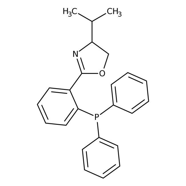 (4S)-(-)-4,5-Dihydro-2-[2'-(diphenylphosphino)phenyl]-4-isopropyloxazole, 98%, ACROS Organics
