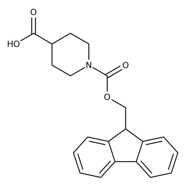Alfa Aesar™1-Fmoc-piperidine-4-carboxylic acid, 98% 25g Alfa Aesar™1-Fmoc-piperidine-4-carboxylic acid, 98%