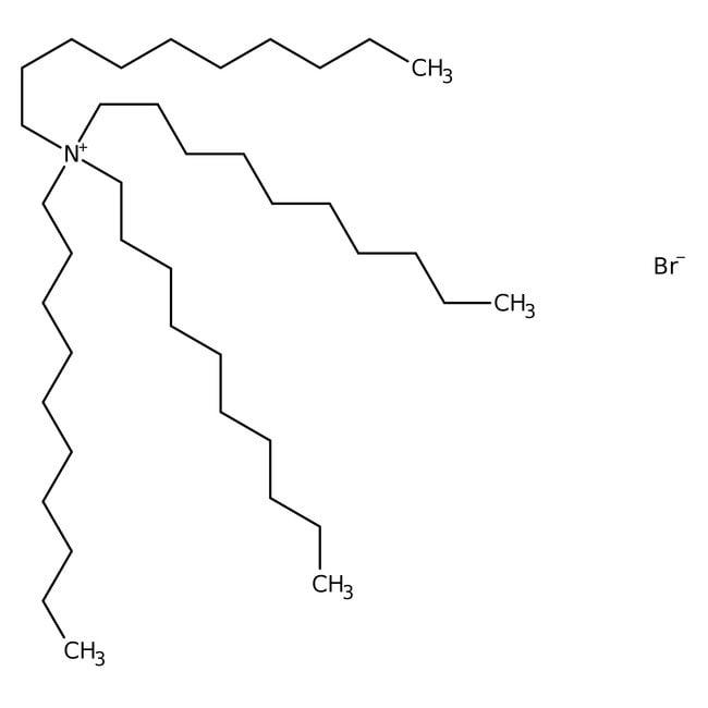 Tetrakis(decyl)ammonium bromide, 98%, ACROS Organics™ 10g; Glass bottle Tetrakis(decyl)ammonium bromide, 98%, ACROS Organics™