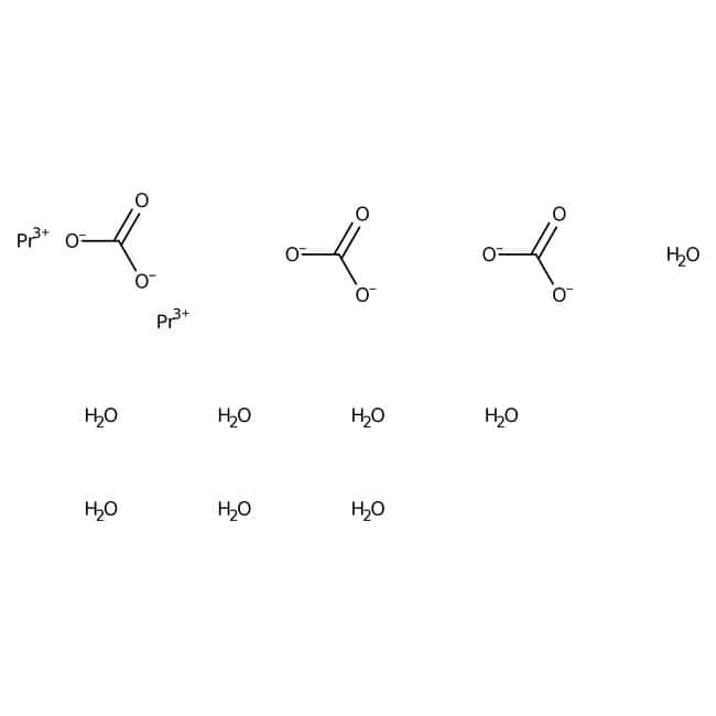 Alfa Aesar™Praseodymium(III) carbonate octahydrate, REacton™, 99.99% (REO) 25g Alfa Aesar™Praseodymium(III) carbonate octahydrate, REacton™, 99.99% (REO)
