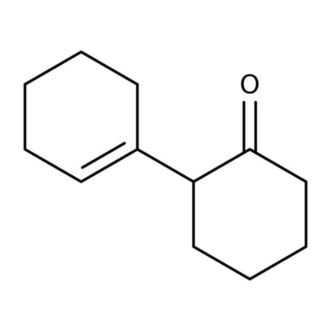 Alfa Aesar™ 2-(1-Cyclohexenyl)cyclohexanone, 85+%, cont. ca 10% 2-cyclohexylidenecyclohexanone 25g Alfa Aesar™ 2-(1-Cyclohexenyl)cyclohexanone, 85+%, cont. ca 10% 2-cyclohexylidenecyclohexanone