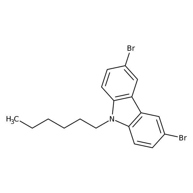 3,6-Dibromo-9-hexyl-9H-carbazole 98.0 %, TCI America