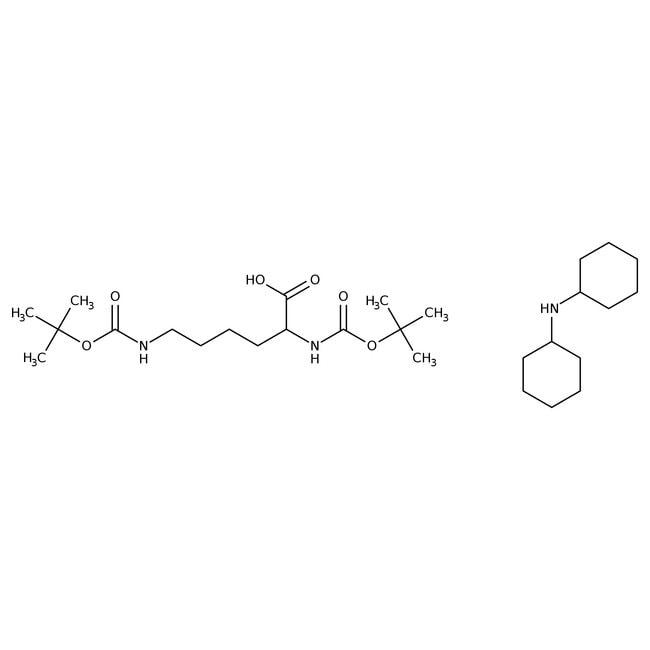 Alfa Aesar™Nalpha,Nepsilon-Di-Boc-L-lysine dicyclohexylammonium salt, 98% 25g Alfa Aesar™Nalpha,Nepsilon-Di-Boc-L-lysine dicyclohexylammonium salt, 98%