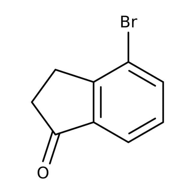 4-Bromo-1-indanone, 97%, ACROS Organics™ 5g; Glass bottle 4-Bromo-1-indanone, 97%, ACROS Organics™