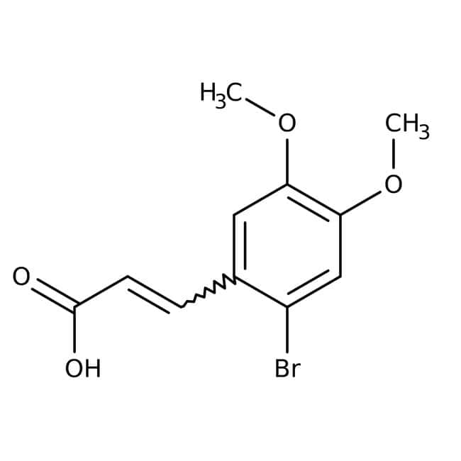 Alfa Aesar™Ácido 2-bromo-4,5-dimetoxicinámico, 97 % 5g Alfa Aesar™Ácido 2-bromo-4,5-dimetoxicinámico, 97 %