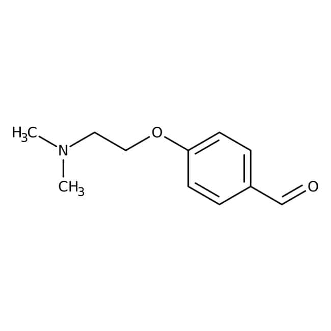 4-[2-(Dimethylamino)ethoxy]benzaldehyd, ≥95 %, Maybridge Braunglasflasche, 1 g 4-[2-(Dimethylamino)ethoxy]benzaldehyd, ≥95 %, Maybridge