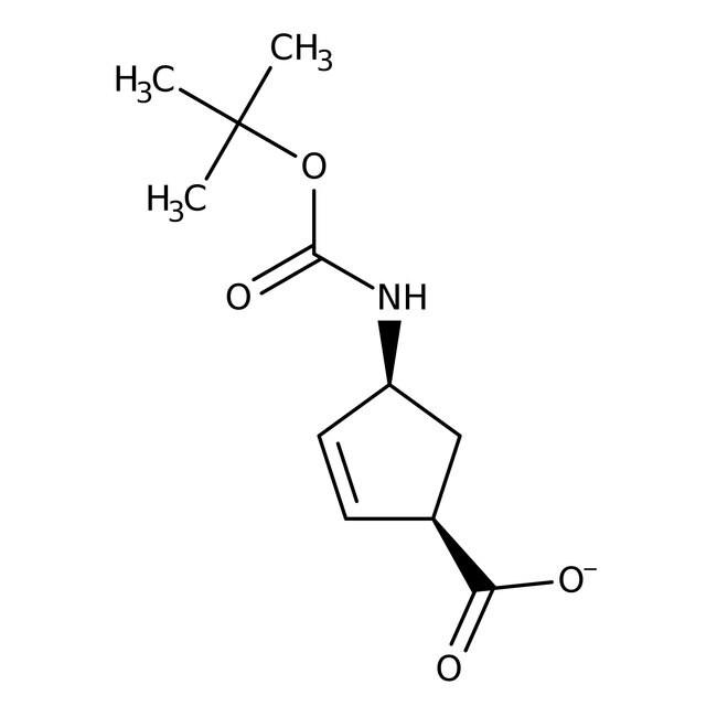 (1R,4S)-N-BOC-1-Aminocyclopent-2-ene-4-carboxylic acid, 95%, 98% e.e., ACROS Organics