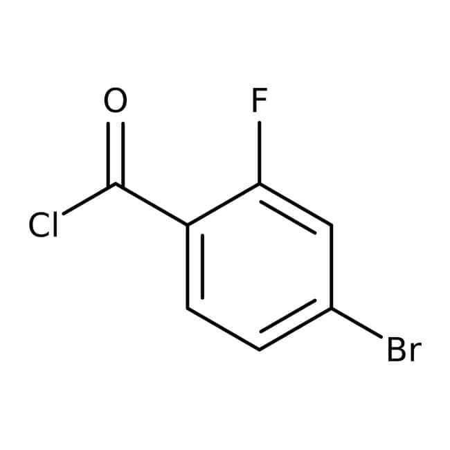 Alfa Aesar™ 4-Brom-2-fluorbenzoylchlorid, 98 %: Halobenzoic acids and derivatives Benzoic acids and derivatives