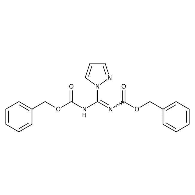 Alfa Aesar™N,N'-Bis(benzyloxycarbonyl)-1H-pyrazole-1-carboxamidine, 98+%