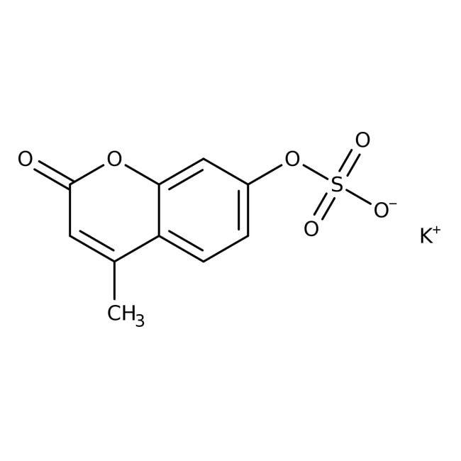 Alfa Aesar™4-Methylumbelliferyl sulfate potassium salt, 98% 500mg Alfa Aesar™4-Methylumbelliferyl sulfate potassium salt, 98%