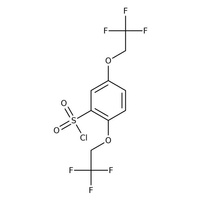 2,5-Di(2,2,2-trifluoroethoxy)benzene-1-sulfonyl chloride, 97%, Maybridge™