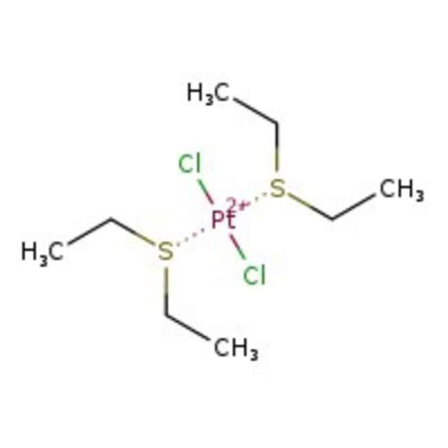 Alfa Aesar™Trans-Dichlorobis(diethylsulfid)Platin(II), Pt43.7% 5g Produkte