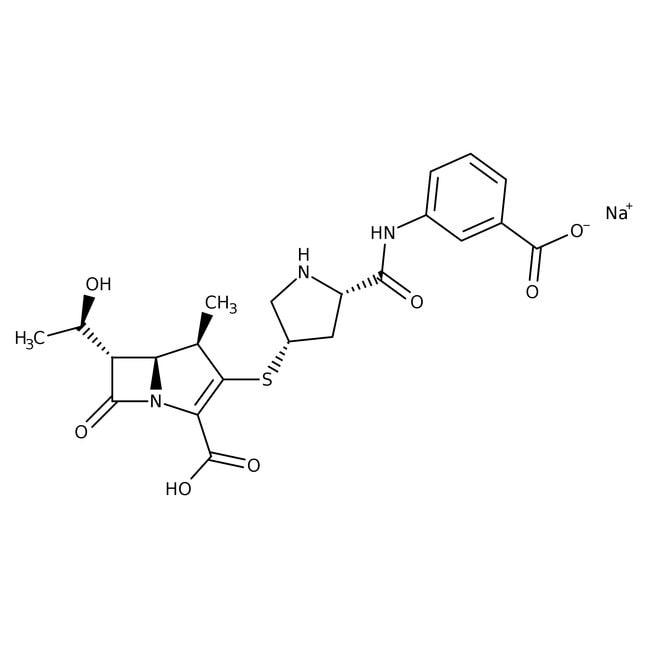 Ertapenem sodium salt, 100mg/mL in distilled water, sterile-filtered, Alfa Aesar™