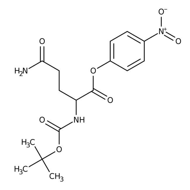 Alfa Aesar™N-Boc-L-glutamine 4-nitrophenyl ester, 95% 5g Alfa Aesar™N-Boc-L-glutamine 4-nitrophenyl ester, 95%